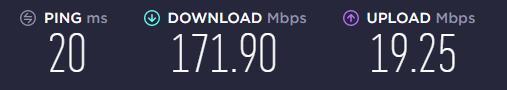 speedtest 2 cavo ethernet